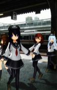 第六駆逐隊、京都駅にて。