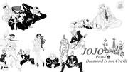 ジョジョの奇妙な冒険4部 ラフ画集