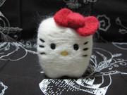 【羊毛フェルト】歯キティ 正面から【作ってみた】