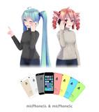 【MMD】スマートフォン3, 4【アクセサリ配布】