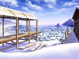 流氷の漁村