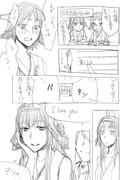 【艦これ】比叡金剛の「愛してる」【落書き漫画】