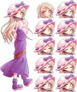 豊姫立ち絵 表情差分