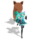 【GIFアニメ】Neko Sisters Run!