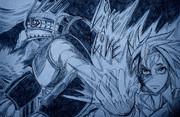 livealive の田所晃とブリキ大王をボールペンのみで描いてみた