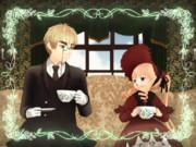 紳士と小さな淑女