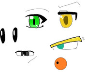 ペイントを使ってマウスで目の練習