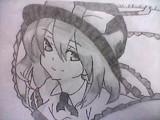永江衣玖を描いてみた。