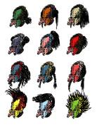 プレでターで様々な髪型