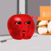 オレンジに邪魔されず静かに考え事をしたいリンゴ