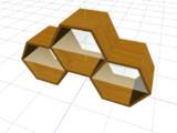 【3Dモデル】六角形の棚【配布あり】