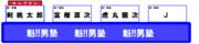 オールスター感謝祭のチーム戦の座席(魁!!男塾チーム編)