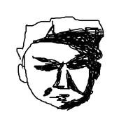 白人の顔の特徴の側面