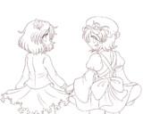 秋姉妹線画