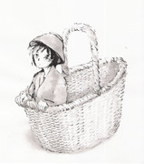 Little Princess in the Basket