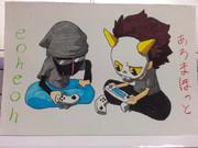 あろまさんとeoheohさん描いてみました^^