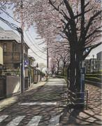 春の道 中野区上鷺宮