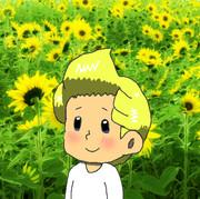 向日葵に囲まれて、幸せ♥