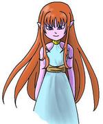 巫女セーリアさんの髪型