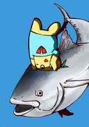 生放送作品「マグロに江頭のポーズで捕まるふなっしー」