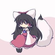白キツネ霊夢