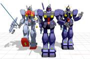 【MMD】RGM-79Qジム・クゥエル、3体セット【モデル配布】