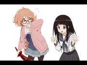 ゆるふわボブの眼鏡っ娘 vs 黒髪ぱっつんストレート