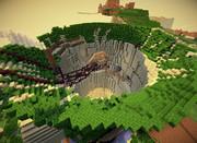 【Minecraft】天空の城ラピュタ炭鉱作ってみた【70%】