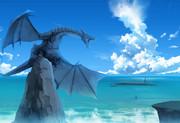 ドラゴンと雲