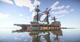 【Minecraft】 標準型ガレー船