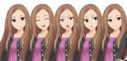 松山久美子の立ち絵…の、ような物です。