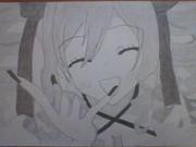 シャーペンで大連寺鈴鹿描いてみた!
