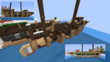 【Minecraft】 ガレー船 建造途中の小型艦