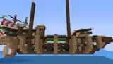 【Minecraft】 ガレー船 建造途中の小型艦 2