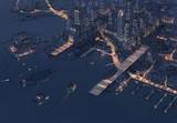 飛行船の街の夜