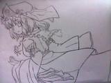 西行寺幽々子を描いてみた。