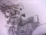 西行寺幽々子を描いてみた。影Ver