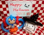 初音ミクとテレビちゃんをハロウィンっぽく風船で作ってみた【かぼちゃ推し】