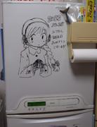 冷蔵庫にユフさん描いてみた