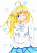 金髪巨乳(?)美少女
