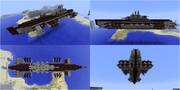 【Minecraft】飛行潜水艇の紹介