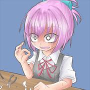 プラモを作ってたら接着剤で指がくっついてしまった不知火