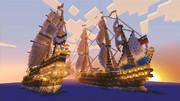 2隻のガレオン船 Minecraft Xbox360