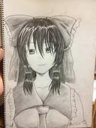 鉛筆描き 博麗霊夢
