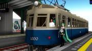 新製電車で葱畑駅に乗り入れてみました。
