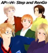 【APヘタリアMMD】Step and RenGo【トレス】