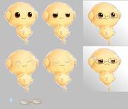 雲魔物-スモークボール表情差分