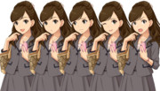 衛藤美紗希の立ち絵…の、ような物です。