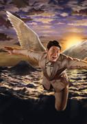 松岡修造(飛翔)