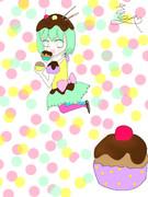 カップケーキとGUMI